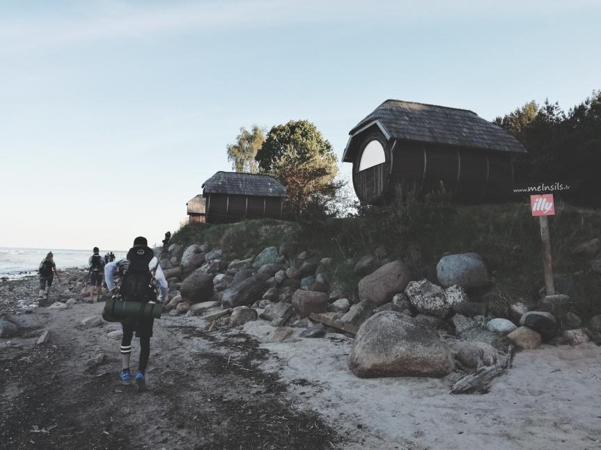 136 km hike along thecoastline